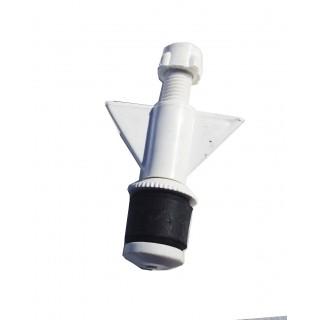 """N20075 Nylon plug 3/4"""" Hollow shaft small bore"""