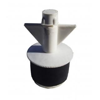 """N2015 Nylon plug 1-1/2"""" Hollow shaft small bore"""
