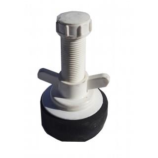 "N3025 Nylon plug 2-1/2"" Hollow shaft large bore"